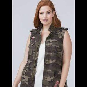 Lane Bryant Camo /Floral Vest